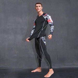 2020 New Compression Tracksuit Fitness Tight Sportswear Running Set T-shirt Leggings Men's Sportswear Demix Gym Sport Suit