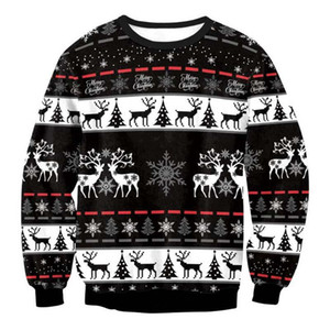 Men Women Holiday Christmas Tree Reindeer Snowflakes Sweater Pullover Ugly Christmas Sweaters Jumpers 3D Funny Xmas Sweatshirt