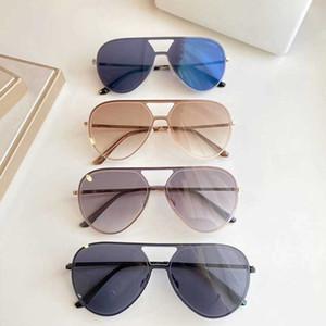 2020 new men designer Black Greca pilot Sunglasses VE4388 black frame and mirrored light brown lenses UV400 with case high quality