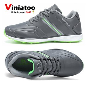 New Men Waterproof Golf Sneakers White Gray Outdoor Anti Slip Golf Shoes Big Size 6.5-13 Light Sneakers for Golfers