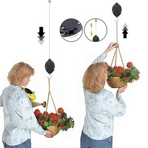 Retractable Plant Pulley Adjustable Plant Hanger Hook with Locking Mechanism for Hanging Flower Baskets Pots and Bird Feeders