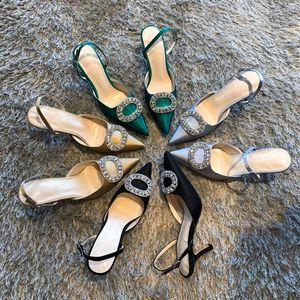 Slingshot puntiagudo de dedo regresa en moda zapatos de fiesta de tacón alto femenino de la moda de seis pulgadas / ocho pulgadas / diez pulgadas de tacón fino CCWH