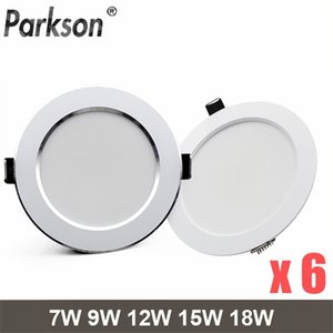 6PCS lot LED Downlight 7W 9W 12W 15W 18W Round Recessed Spot AC220V 240V Home Decor Waterproof Down Light Lamp Q1121