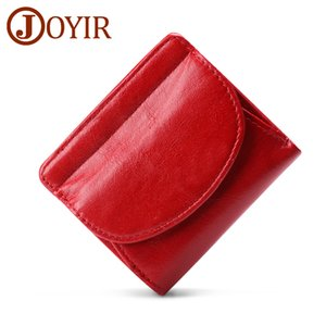 Portafoglio Mini Genuine Leather Holder femminili piccola carta di JOYIR donna breve borse di denari Proket Per Ragazze Money Bag Cartera C1115