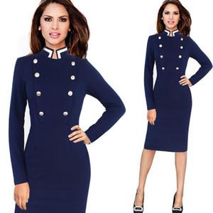 Sutimine Kadınlar Elbise 2021 Yeni Zarif Vintage Uzun Kollu Çalışma Artı Boyutu Ofis Iş Rahat Fitness Kış Kalem Elbiseler