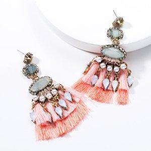 2020 Earing Fashion Jewelry Multi-layer Geometric Resin Acrylic Fan-shaped Fringed Bohemian Personality Popular Tassel Earrings