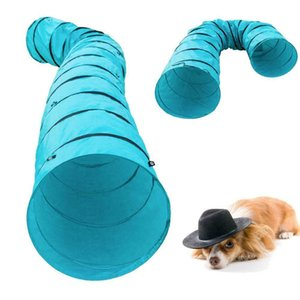 18' Agility Training Tunnel Pet Dog Play Outdoor Obedience Exercise Equipment