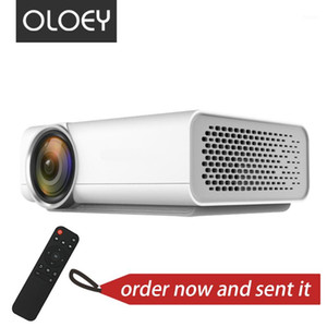OLOEY mini Projector 800*480p support 1080P 1200 lumens LED Portable family entertainment television for new year gift1