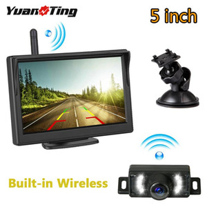 YuanTing Built-in Wireless License Plate 7 IR LED Night Vision Backup Car Rear View Camera 5 inch LCD Display Monitor System Kit