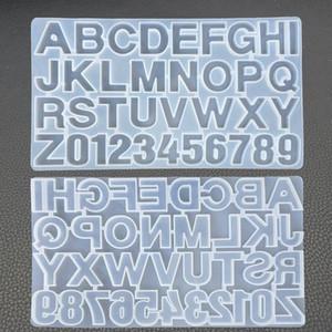 DIY Mektubu Silikon Kalıplar Reçine Kalıpları Alfabe Numarası Silikon Kalıpları Yapmak için Anahtarlık Kolye Takı Şeker Kek El Sanatları Döküm Kalıp