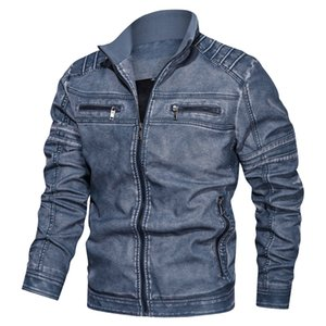 new autumn winter pilot PU bomber leather jacket men New Leisure hot military flight faux jacket Motorcycle male coat plus size 201201