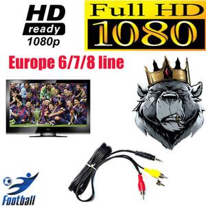 2021 Últimas European 12 Mois Neuf 6/7/8 Clines CCCAM DVB S2 Televisão por satélite Full HD Estável