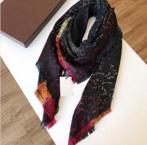 Designer Wolle Seidenschal für Frauen Hohe Qualität Bunte Damen Winter Tücher Schal Pashmina Mode Lange Ring 140x140cm Geschenk Dropship A336