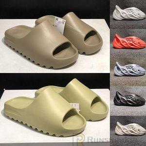 2021 Fashion Kanye West Slides Schiuma Schiuma Runner Desert Sabbia Terra Brown Resina Mens Donne Slipper Pantamo Protofle Luxe Maschio Sandalo femminile Pantofole Sandalo