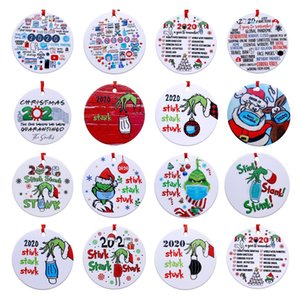 Grinch Hand Christmas Ornament 2020 stink stank stunk Christmas Party Decoration With Face Mask Hanging Pendant Gift KL00
