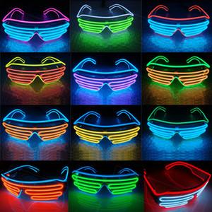 Party LED Glasses Filo fluorescente Flash Flash Vetro Finestra Capodanno Pasqua Graduazione Compleanno Party Bar Decorativo Barra luminosa Eyewear RRE3410