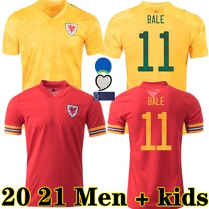 웨일즈 축구 유니폼 20 21 James 2020 웨일즈 홈 베일 축구 셔츠 램지 유니폼 2021 남자 아이들이 Allen B.Davies