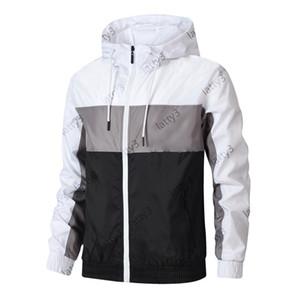 Giacche da uomo di marca Moda a vento a vento modello stampa stampa sottile cappotto da calcio calcio a maniche lunghe con cerniera giacche sportive in esecuzione abbigliamento sportivo