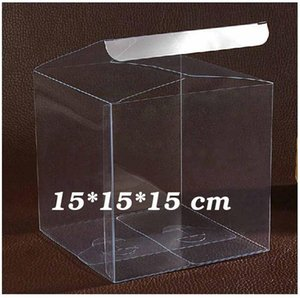 1lot10pcs 777cm Pvc Package Box Different Sizes Square Shape Pvc Package Box Plastic Packaging Box For Souvenir Candy Wedding jllijK jhhome