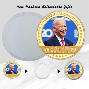 Joe Biden Gold Plated Coin Collectibles with Coin Holder USA Challenge Coins President Original Coin Medal Gifts for Dad AHE3159