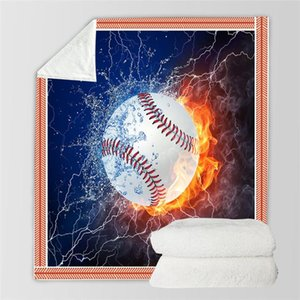 Baseball 3D Printed Plush Fleece Blanket Adult Home Office Washable Casual Kids Sherpa Blanket Drop Shipping 07