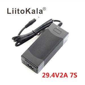 2020 liitokala Hohe Qualität 29.4V 2A 7s Elektrische Fahrrad Lithium-Batterieladegerät für 24V 2A Lithium-Batterie-Pack-Anschluss-Ladegerät