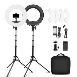 "Teste flash 12 ""Rinforno dimmerabile 45W LED LED Lampada della fotocamera LED 3200K-5500K per Smartphone Studio Live Video Makeup1"