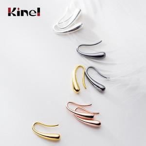 Kinel Hot Sale 925 Silver Earring Fashion Jewelry Teardrop Water drop Raindrop Dangle Earrings for Women Valentine Gift