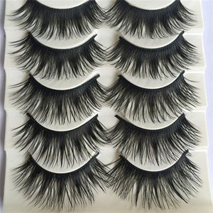 5pairs Set 3d Faux Mink Hair False Eyelashes Wispy Criss Cross Fluffy Thick Natural Handmade Lash Cruelty Free Eye Makeup Tools Swy sqcwjX