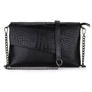 women chain head leather diagonal cross Bag Fashion embossed crocodile pattern hand bag single shoulder tote bags for women