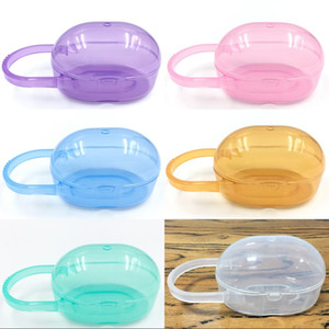 Ellipsoid Case Pacifier Holder Solid Color Handle Appease Nipple Box Storage Portable Baby Supplie Container 0 55xt K2