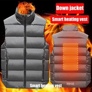 Warm Heated Vest Men Women Smart Electric USB Jacket Graphene Ski Hiking Coat Thermal Battery Clothing Winter Outdoor Washable