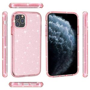 بريميوم وعرة الهجين tpu pc بريق الصدمات مكافحة إسقاط واضحة حالة الهاتف لآيفون 12 11 برو ماكس XS XR Samsung S20