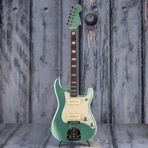 جاز strat، الصوفي تصفح الأخضر جودة عالية St 6 سلاسل الغيتار الكهربائي، كروم مطلي الأجهزة، توصيل مجاني