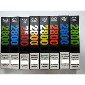 Новые Puff Flex Bars Одноразовые устройства Vape Kits 2800 Загонией 10 мл префидентов 13 цветов против потока XXL PLUS MAX DHL бесплатно