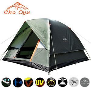 4 Person Double Layer Camping Tent 200x200x130cm Outdoor Rainproof Travel Tent for Hiking Fishing Camping Russian Local Delivery Z1123
