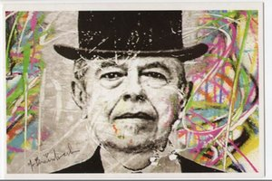 MR Brainwash Rene Magritte, genuino de alta calidad Pure Pure Pintado de pared Decoración de la pared Pintura al óleo sobre lienzo Mulit Tamaños, EM02