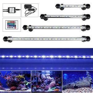 UE spina USA RGB Remoto Acquario Fish Tank impermeabile 5050 SMD LED Light Bar acquatico lampada sommergibile 18-48CM C1115