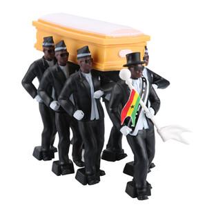 8 stücke 6pc Ghana Cosplay Sargin Dance Ghana Tanz Pallbarer Figur Action Begräbnis Ghana Tanzenteam Display Lustiges Zubehör Z1120