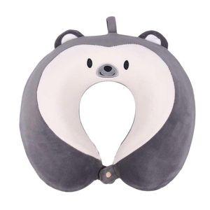 Memory Cotton U-Shaped Pillow Cartoon for Travel Plane Siesta Office Neck Massage Car Headrest Soft Home Textile Pillow