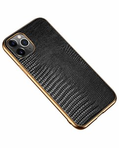 Exquisite Lacertilian Print Aristocratic Wallet Electroplating Sticker Cover Luxury Genuine Leather Case For Apple Iphone 12 Pro Max