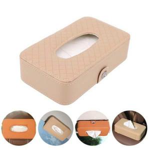 1Pcs Car Tissue Box Towel Sets Car Sun Visor Napkins Tissue Boxes Holder Auto Interior Storage Bag Decoration Access