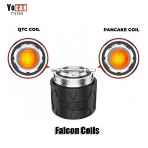 Originale YOCAN Falcon Coil Head QTC Quatz Triple Pancake Pancake Bobine di ricambio Core Atomizzatore per il kit del dispositivo DAB del concentrato di cera autentico