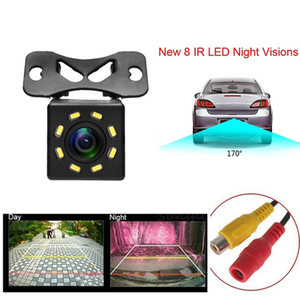 HD 8 LEDs Carro Vista Traseira Câmera Night Vision Universal Retroga Retrovisor Camera 170 Grande Angular Carro Backup Estacionamento Câmera