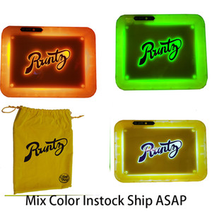 Runtz Glow Trays LED Glow Trays Backwoods Rolling Tray Cookies Glow Tray Dry Herb Storage USB Rechargeable Rolling Trays Instock 28*20.8*3CM