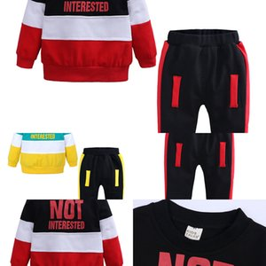 Kids Retail Baby Cartoon Fashion Casual Patchwork Two-Piece Suits Clothing Sets Infant Boys Outfits Sportwear Tracksuits Clothes
