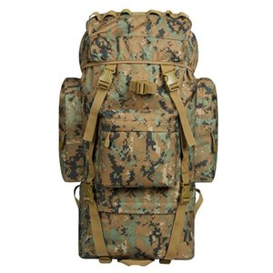 70L Liter Mountaineering Bag Profession Army Fans Waterproof Travel Large Backpack Tactical Child and Mother Combat Marching Bac