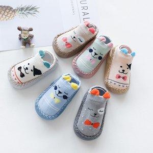 New born With Rubber Soles Infant Baby Girls Boys Autumn Winter Children Floor Socks Shoes Anti Slip Soft Sole Sock
