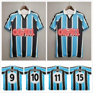 Gremio 2000 Jersey di calcio retrò Ronaldinho Zinho Nene Warley Gremio Porto Alegre Home Vintage Vecchia Camicia da calcio classica