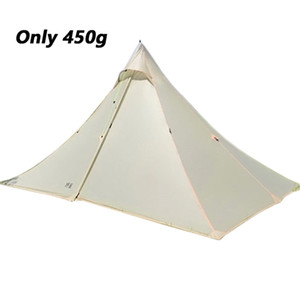 High quality 2 side silicone nylon pyramid fly of outdoor lightweight camping tent 265*170*135cm Z1123